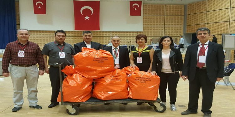 Essen'deki oylar da Türkiye'ye gönderildi